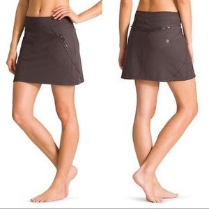 ATHLETA Trailside Skort in Brown Taupe